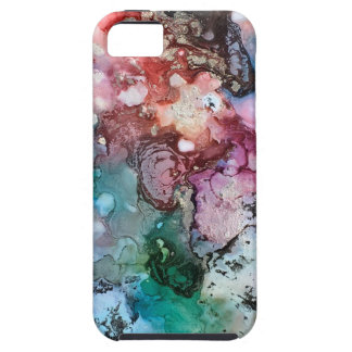 Coque iPhone 5 Case-Mate iPhone encré 5 de galaxie d'arc-en-ciel de licorne