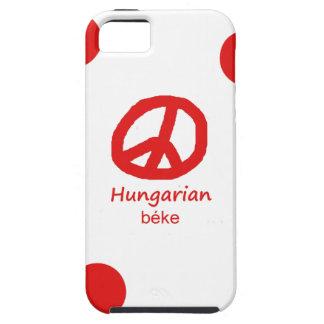 Coque iPhone 5 Case-Mate Langue et conception hongroises de symbole de paix