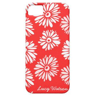 Coque iPhone 5 Case-Mate Le rouge fleurit la caisse de l'iPhone 5