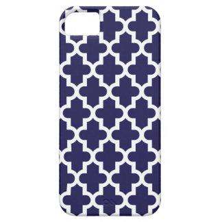 Coque iPhone 5 Case-Mate Motif marocain moderne de bleu marine