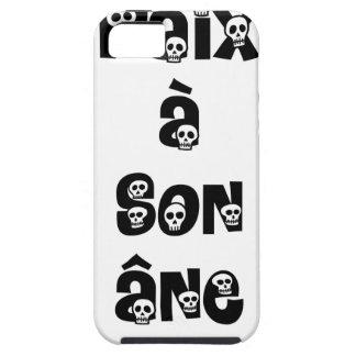 Coque iPhone 5 Case-Mate PAIX À SON ÂNE - Jeux de Mots - Francois Ville