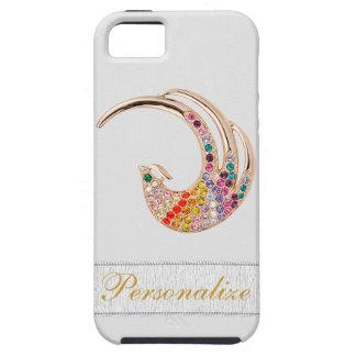 Coque iPhone 5 Case-Mate Paon d'or et iPhone 5 de bijoux de diamant