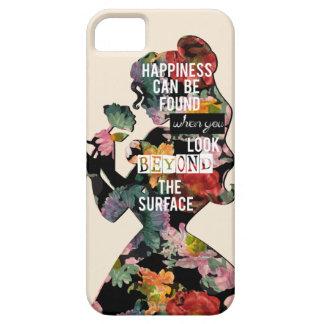 Coque iPhone 5 Case-Mate Silhouette florale de belle de la princesse  
