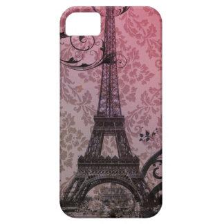 Coque iPhone 5 Case-Mate Tour Eiffel romantique de Paris de damassé de rose