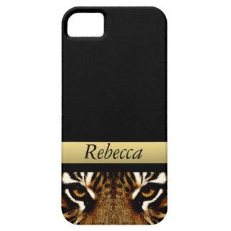 Coque iPhone 5 Case-Mate Yeux d'un tigre personnalisé