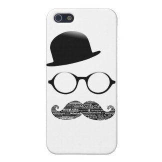 Coque iPhone 5 chapeau lunettes moustache