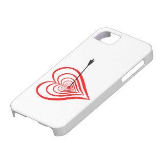 Coque iPhone 5 Coeur Dartscheibe avec la flèche