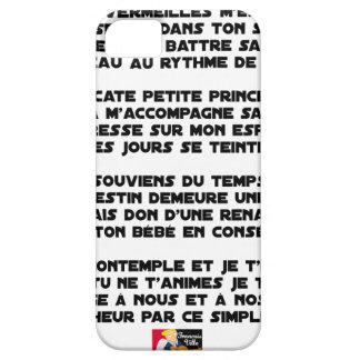 Coque iPhone 5 DORS - Poème - Francois Ville