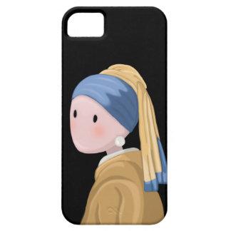 Coque iPhone 5 Fille avec une boucle d'oreille de perle