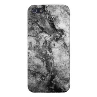 Coque iPhone 5 Finition en pierre de marbre blanche noire striée