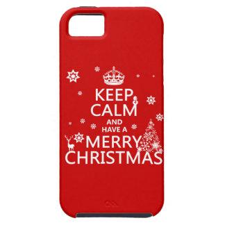 Coque iPhone 5 Gardez le calme et ayez un Joyeux Noël