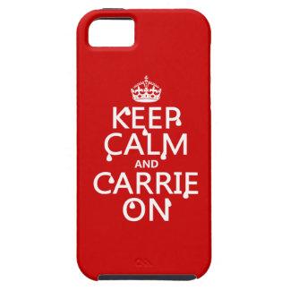 Coque iPhone 5 Gardez le calme et le Carrie dessus - sang -