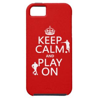 Coque iPhone 5 Gardez le calme et le jeu sur (le