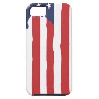 Coque iPhone 5 Graffiti Etats-Unis de drapeau américain uni