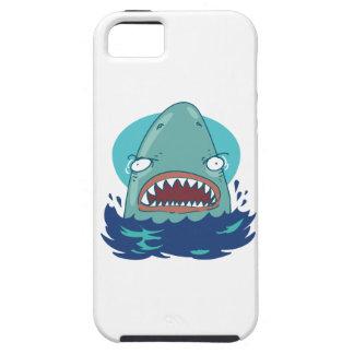 Coque iPhone 5 grande bande dessinée drôle de requin blanc