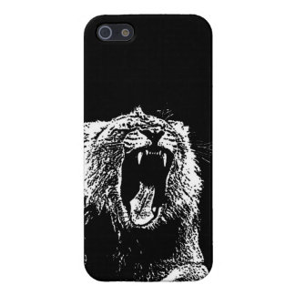 Coque iPhone 5 Hurlement de tigre de lion d'animaux de Martin