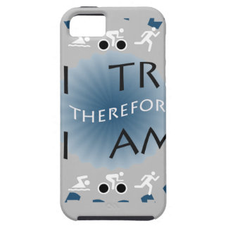 Coque iPhone 5 I tri par conséquent je suis triathlon