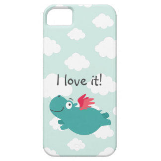 Coque iPhone 5 Illustration d'hippopotame de vol