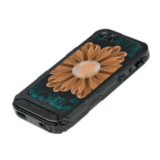 Coque iPhone 5 Incipio ATLAS ID™ Beau chrysanthème de paradis d'orange et d'Aqua