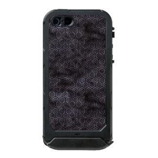 COQUE iPhone 5 INCIPIO ATLAS ID™ MARBRE HEXAGON1 NOIR ET AQUARELLE NOIRE (R)