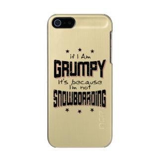 Coque iPhone 5 Incipio Feather® Shine NE PAS FAIRE DU SURF DES NEIGES GRINCHEUX (noir)