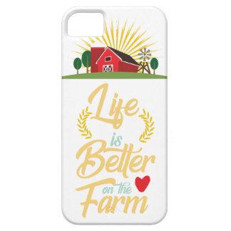 Coque iPhone 5 La vie est meilleure à la ferme élevant
