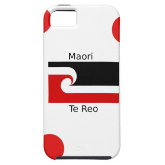 Coque iPhone 5 Langue de Te Reo et conception maorie de drapeau