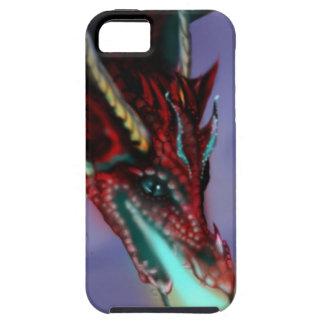 Coque iPhone 5 Le feu rouge de dragon flambe le cramoisi mignon