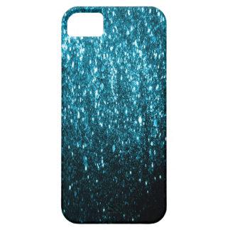 Coque iPhone 5 Les parties scintillantes bleues miroitent