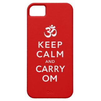 Coque iPhone 5 Maintenez calme et portez la valise de l'iPhone 5