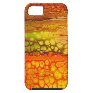 Coque iPhone 5 Mélange rouge de jaune orange d'illustration de