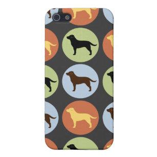 Coque iPhone 5 Motif de chiens d'arrêt de Labrador