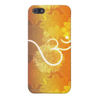 Coque iPhone 5 Motif indien d'ornement avec le symbole d'ohm