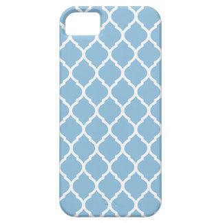 Coque iPhone 5 Motif marocain chic de trellis de bleu de ciel