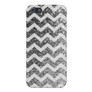 Coque iPhone 5 Motif scintillant de Bling Chevron de parties