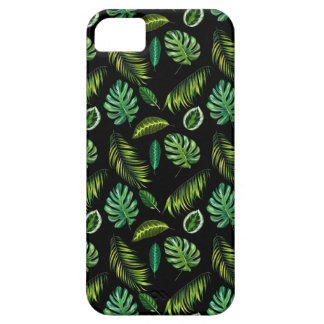 Coque iPhone 5 Motif tropical Tiki floral fait main de feuille