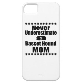 Coque iPhone 5 Ne sous-estimez jamais la maman de Basset Hound