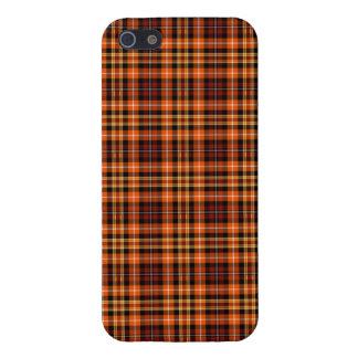 Coque iPhone 5 Plaid de Brown, orange et jaune roux