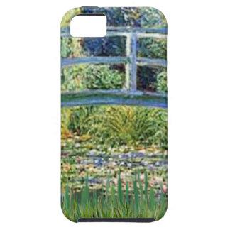 Coque iPhone 5 Pont d'étang de lis - insérez votre animal
