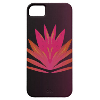 Coque iPhone 5 Rose de Lotus sur le noir