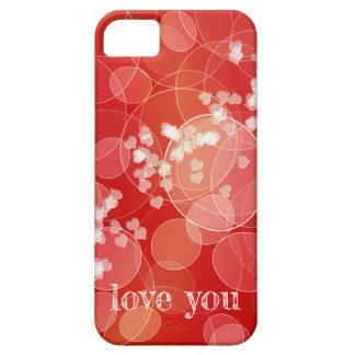 Coque iPhone 5 Texture rouge de gradient de style de Bokeh