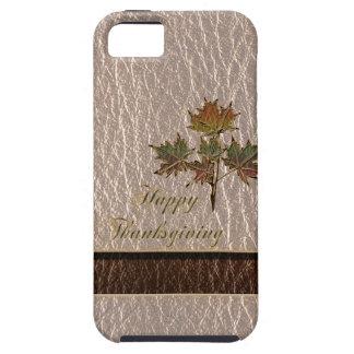 Coque iPhone 5 Thanksgiving simili cuir 2