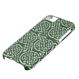 Coque iPhone 5C Art celtique vert de knotwork