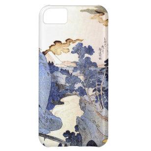 Coque iPhone 5C Art japonais bleu vintage