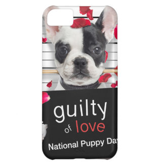 Coque iPhone 5C Bouledogue français de Saint-Valentin