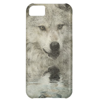 Coque iPhone 5C Cadeau d'art de faune de croquis de crayon de loup