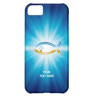 Coque iPhone 5C Cadeau unique bleu de l'arrière - plan | de croix