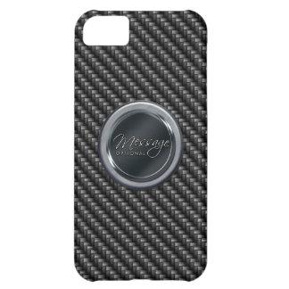 Coque iPhone 5C Caisse de point de la fibre 2A de carbone