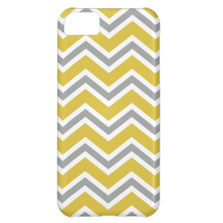 Coque iPhone 5C Caisse grise et jaune de l'iPhone 5C de Chevron