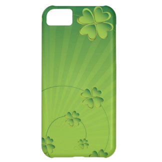 Coque iPhone 5C Caisse verte de shamrock